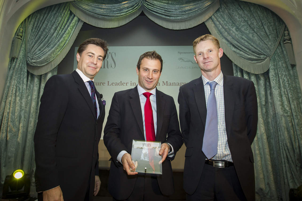 Future Leader in Wealth Management - host Ross Westgate, Adam Proctor (Citi Private Bank), Tim Johnson (sponsor, Jaguar)