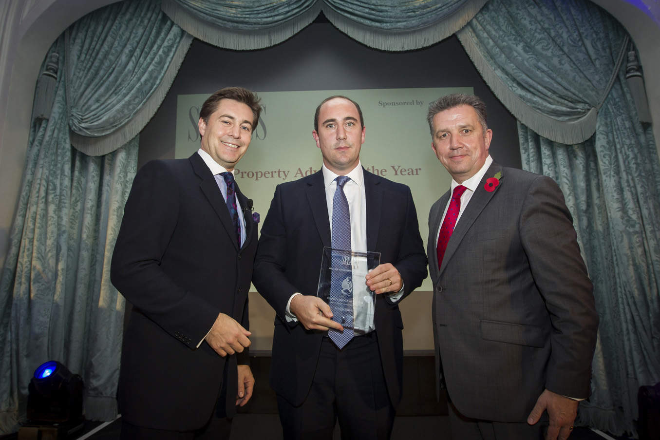 Property Adviser - host Ross Westgate, Caspar Harvard-Wells (Black Brick), Mark Gardner (sponsor, Hamilton Grand)