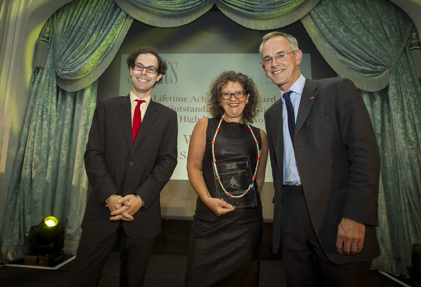 Lifetime Achievement: Editor Josh Spero, Sandra Davis (Mishcon de Reya), David Poole (sponsor, Citi Private Bank)