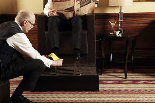 shoe shine at the connaught